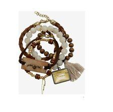 Harry Potter Natural Bead Hogwarts Letter Bracelet Set