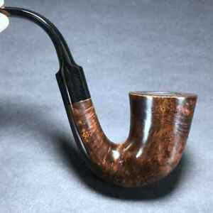 Road Town Saxophone Bent Style Briar wood Craft Pipe--unsmoked