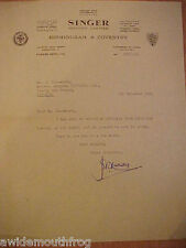 1955 Armstrong Siddeley Letterhead Coventry Marriott Brothers Sheffield Attic Automobiles Collectibles