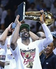 DWYANE WADE with 2012 NBA Finals Trophy Miami Heat LICENSED poster 8x10 photo