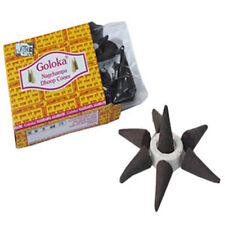 Goloka Nagchampa Dhoop Incense Cones - 10 Cones