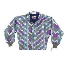 NOS Vintage 90s Walls Mountain Navajo Print Bomber Jacket Multi-Color Mens Large