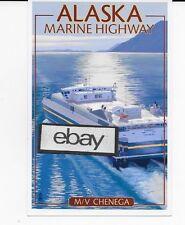 ALASKA MARINE HIGHWAY FERRY M/V CHENGA FAST FERRY LITHOGRAPH POSTCARD