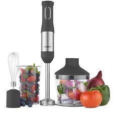VonShef 800W 3 in 1 Hand Blender Mini Chopper Food Processor Electric Whisk