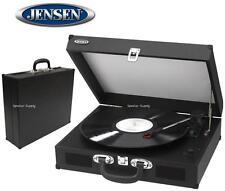 Jensen JTA-410 Black Turntable Stereo w/ Speakers Record Player Convert MP3