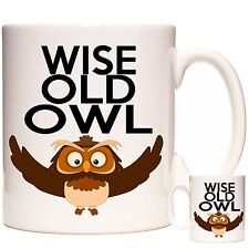 FUNNY MUG, WISE OLD OWL, Dishwasher and Microwave Proof