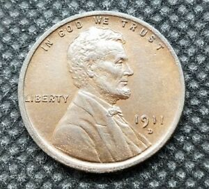 1911-D Lincoln Wheat Cent | BRILLIANT UNCIRCULATED | Nice Brown Color!