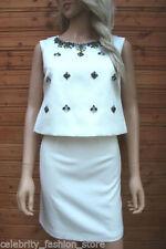 Vestiti da donna bianchi in misto cotone con girocollo