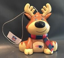 New England Patriots Reindeer Christmas Holiday Tree Ornament FREE SHIPPING