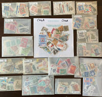 WORLDWIDE OFF PAPER STAMP LOT FROM MANY WW COUNTRIES (NO US)