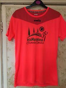 Chianti Classico Rooster ecoMaratona Trail Running Shirt Jersey Top Small Pink