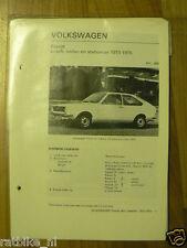 V27-VOLKSWAGEN PASSAT, COACH, SEDAN EN STATIONCAR 1973-1975 AUTO