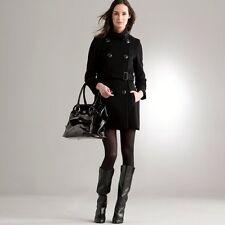 manteau caban ceinture noir chaud marque LAURA CLEMENT LA REDOUTE T38