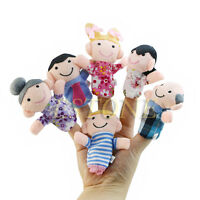 6PCS Baby Kids Plush Doll Cloth Play Learn Story Game Family Finger Puppets Toys