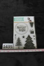 NEW Simon Says Stamp Merry Trees Christmas stamp set, photopolymer, Exc Cond