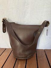 1996 COACH XL Vintage Genuine Brown Leather Bucket Shoulder Bag