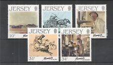Jersey 1986 artistas 7TH serie SG, 397-401 Um/M N/H Lote R820