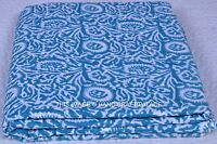 2.5 Yards Cotton Voile Hand Block Print Fabric Natural Dyes Sanganer Indian