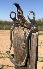SPADE horse BIT - maker stamped from Buermann - antique & COOL!