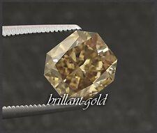 Diamant im Radiant Schliff 0,72 ct mit Zertifikat, Natürlich Champagner / Si1