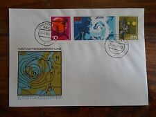 METEOROLOGY FDC cover DDR Germany 1968 GDR Geophysics Geodesy, climate wheather