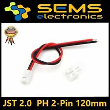 Micro JST 2.0mm pH 2-pin Connector Plug with yo cables 120mm nuevo
