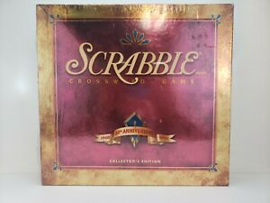 1998 Scrabble Crossword Game 50th Anniversary Collectors Edition Factory Sealed