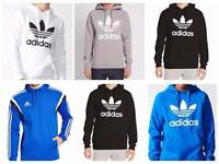 New Adidas Originals Mens Trefoil Fleece Hoodie Hooded Sweatshirt Top S - XL