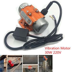 Vibration Motor 30W AC 220V 1phase 3600rpm for Vibrating Sieve Feeder Hopper