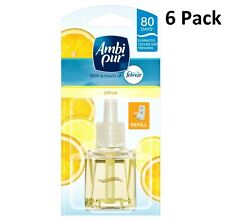6 X 20ML AMBI PUR FEBREZE PLUG IN REFILL AIR FRESHENER - CITRUS