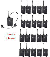 EXMAX UHF-938 Wireless headset System for Church Train 1 Transmitter 20 Receiver