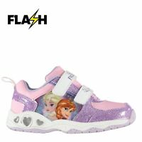 Kids Character Light Up Infants Trainers Hook and Loop Print New