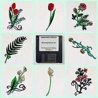 Blooming Flowers #2 Embroidery Designs Disk for Husqvarna Viking  Designer 1