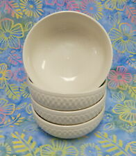 SET of 4 PFALTZGRAFF EVERYDAY WEAVE CEREAL SOUP ICE CREAM BOWLS OFF WHITE 5 3/8""