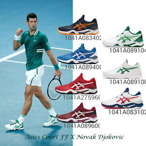 Asics Court FF / 2 Novak Djokovic FlyteFoam Men Tennis Shoes Limited Pick 1