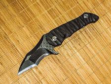 Warren Thomas Custom ano ti CF MSR-1 DELUXE FLIPPER one off folding knife NEW
