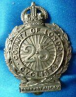 VINTAGE 25th County of London (Cyclist) Battalion London Regiment Cap Badge WM