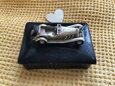 Antique Lesney 1928 Mercedes Cigarette Box Ceramic Glass