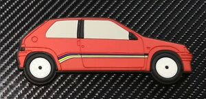 Peugeot 106 Rallye Kühlschrankmagnete, Rot Phase 1