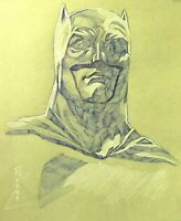 Batman Drawing on Toned Paper - Original Portrait Drawing Artwork