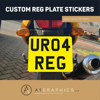 Rear Stick On Number Plate Sticker For Motorcycle Motorbike Reg Plate