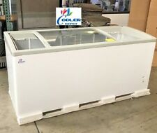 "NEW 72"" Ice Cream Glass Dipping Freezer Chest Showcase Display Commercial NSF"