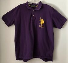 U.S. Polo Assn. #3 Big Pony Embroidered Purple Rugby Polo Shirt Men's.Size LG.