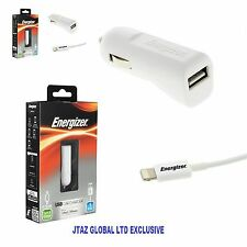 Genuine Energizer In Car Charger for iPhone 7 7Plus 6S 6 SE 5S 5 iPod Touch Nano