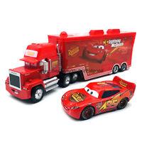 Disney Pixar Cars Lightning McQueen 1 Hauler Truck 1:55 Diecast Model Loose Toys