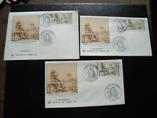 FRANCE - 3 enveloppes 1er jour 26/2/1983 (journee du timbre) (B14) french
