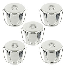 More details for 12l metal bucket lid stainless steel pub beer garden ashtray butt pail handle x5