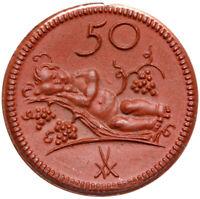 Münsterberg Schlesien - Ziebice - Münze - 50 Pfennig 1921 - Porzellan - Polen
