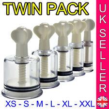 Twin Pack Nipple Suckers Suction Inverted Erector Enlargement Suckers Twist Pump