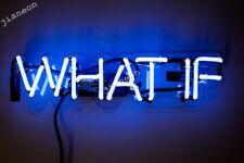 NEW WHAT IF Acrylic Wall Decor Handmade Visual Artwork Neon Light sign
